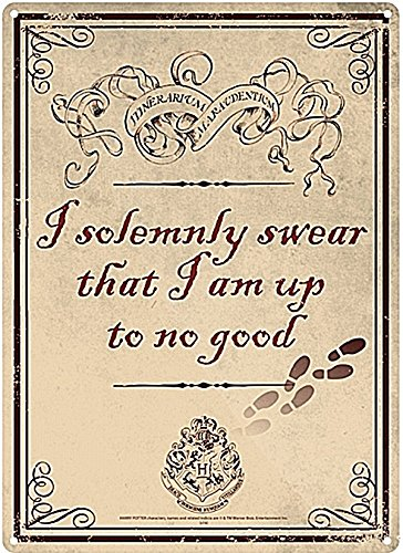 Harry Potter Karte Des Rumtreibers Spruch.Blechschild I Solemnly Swear Karte Des Rumtreibers