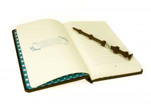 Denkarium-Notizbuch oder Tagebuch Dumbledores Zauberstab als Kugelschreiber
