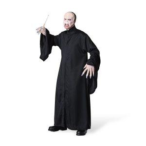Voldemort Kostüm, Maske mit Umhang, aus Harry Potter