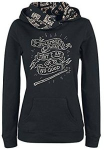 Harry Potter Pullover Kauzenpullover schwarz I solemnly swear that I am uo to no good