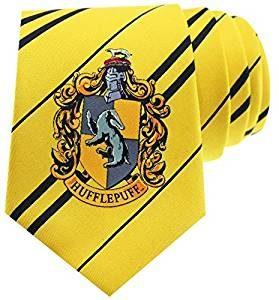 Hufflepuff-Krawatte Harry Potter Hogwarts Wappen