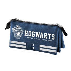 Ravenclaw Etui mit Hauswappen und Hogwarts-Schriftzug