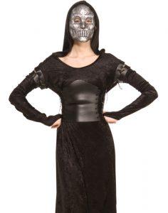 Bellatrix Lestrange, Todesser Kostüm, für Frauen, mit Maske und Gewand