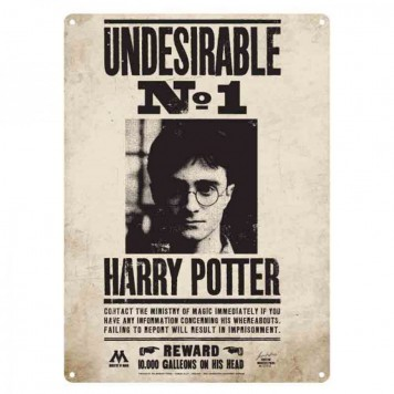 Harry Potter Blechschild Undesirable No. 1 Fahnungsplakat unerwünschter nr 1
